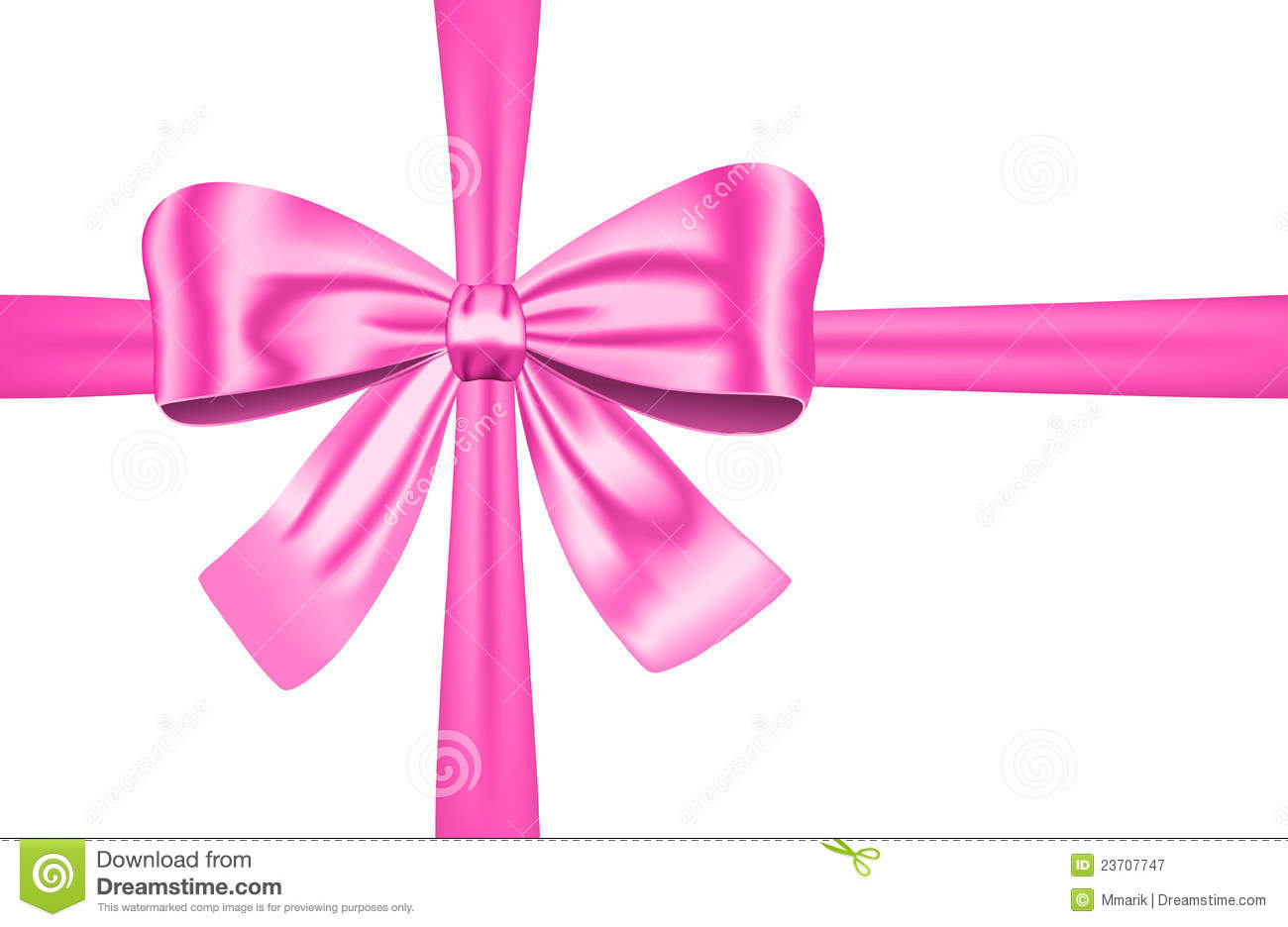 Pink Gift Ribbon With Bow Royalty Free Stock Photography - Image ...