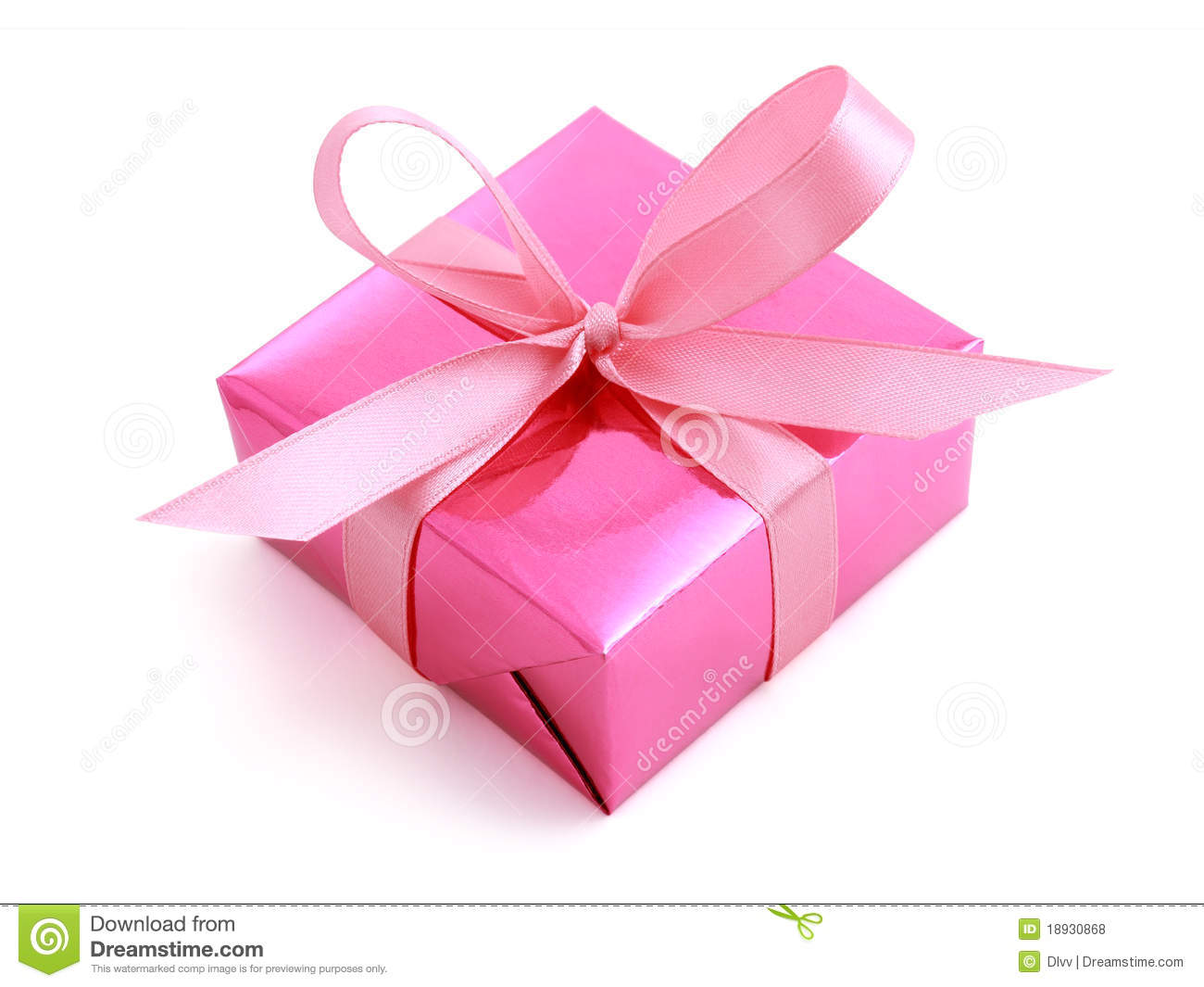 Pink Gift Wrapped Present Royalty Free Stock Photos - Image: 18930868