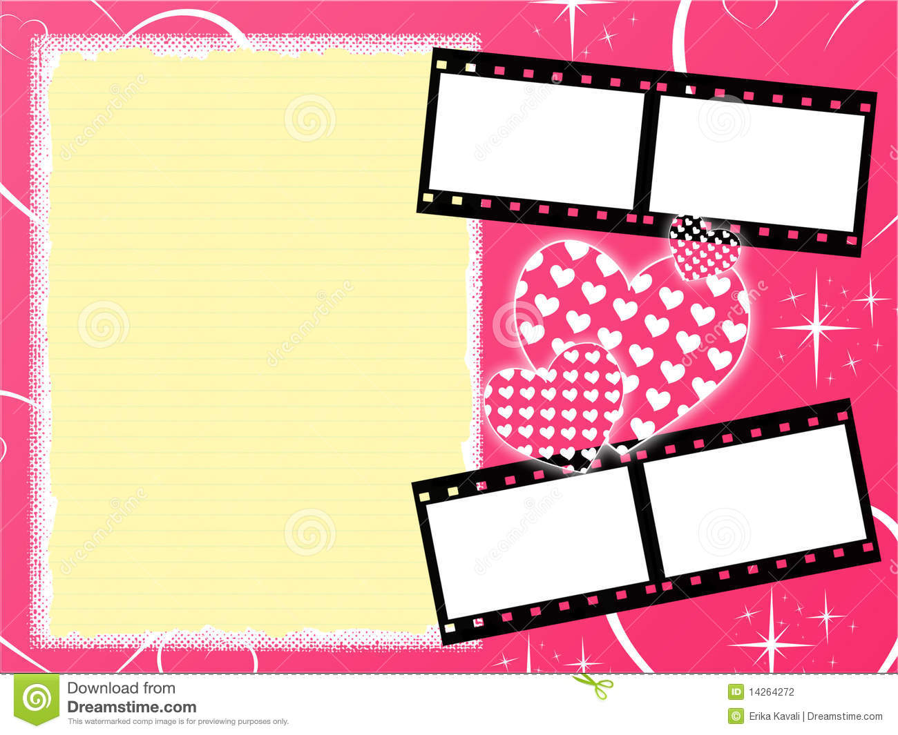 Girly Background Royalty Free Stock Photo: Pink Girly Background Stock Illustration. Illustration Of