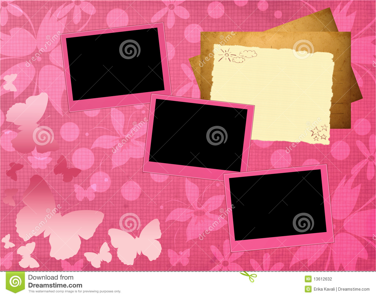 Girly framework stock illustration illustration of polaroid pink girly framework template stock photography toneelgroepblik Choice Image
