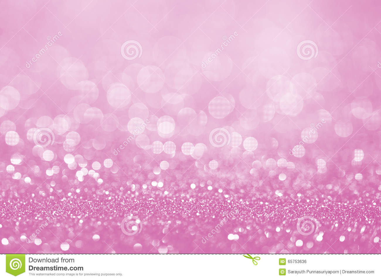 Pink glitter surface with pink light bokeh - It can be used for