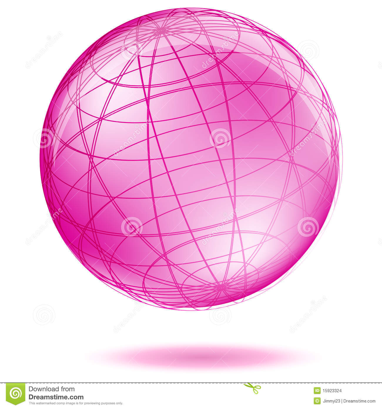 pink globe stock vector image of geographic element