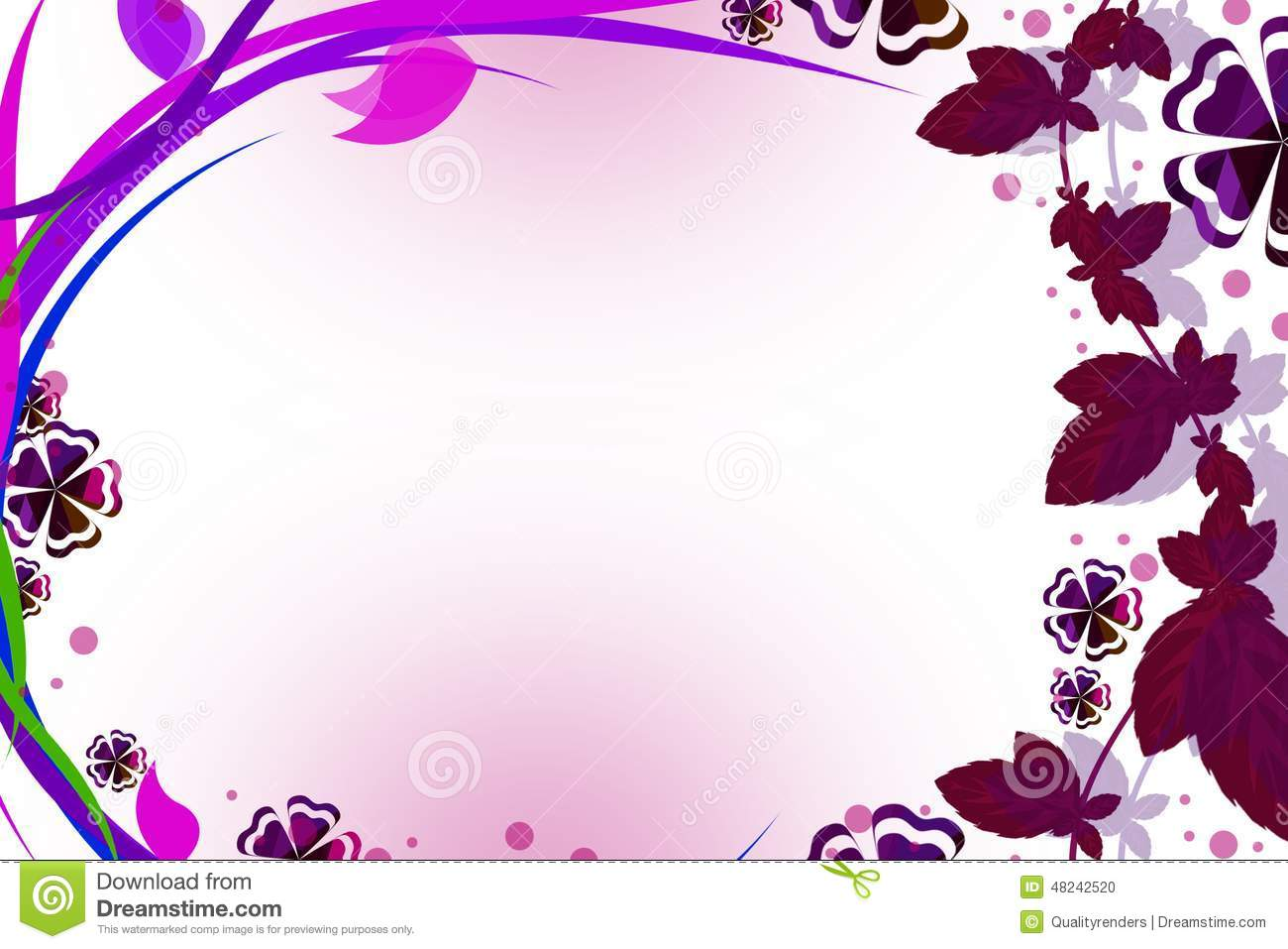 Pink Grape Wine Border, Abstract Background Stock Illustration - Image ...
