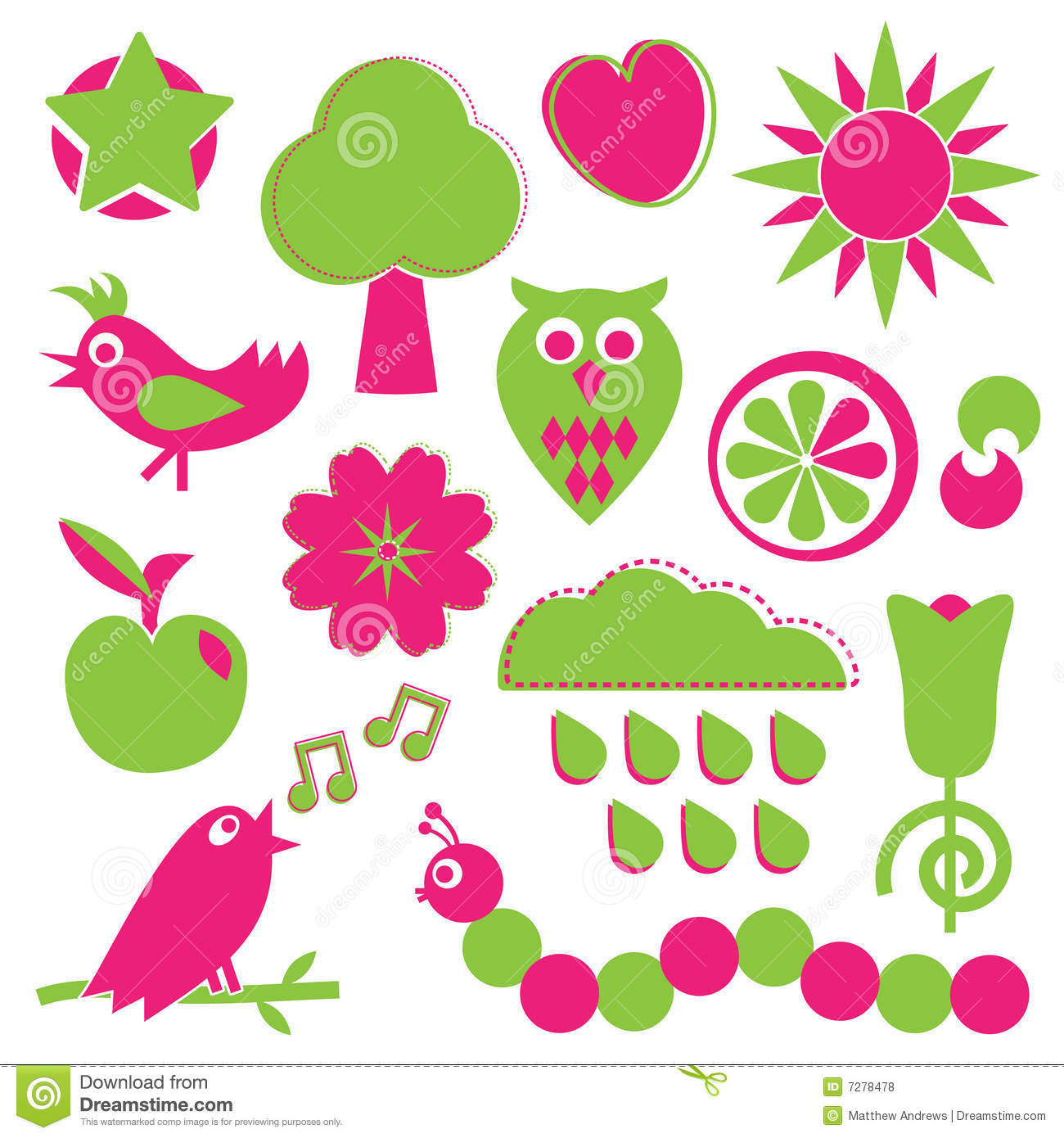 Pink And Green Designs Stock Vector Illustration Of Love 7278478