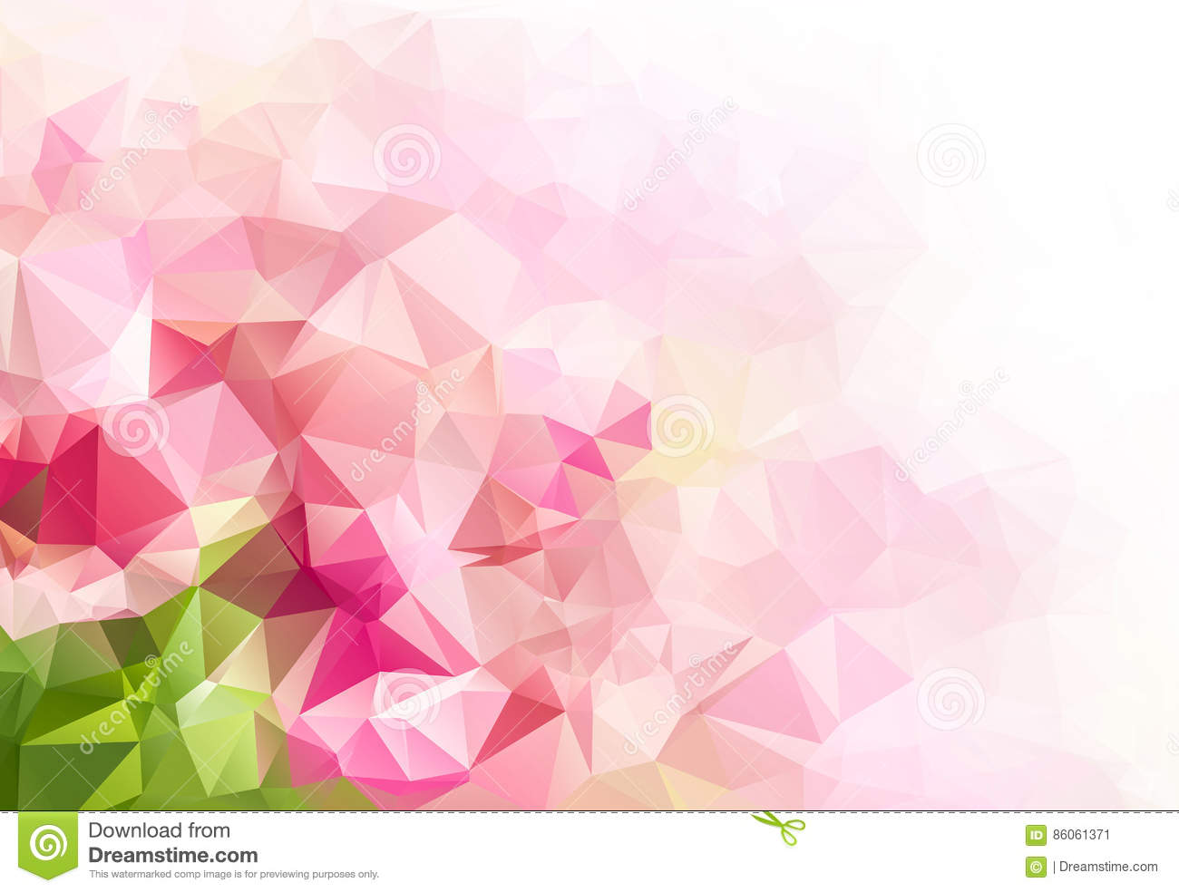 Pink Green Geometric Abstract Colorful Low Poly Background Stock Illustration Illustration Of Geometric Colorful 86061371