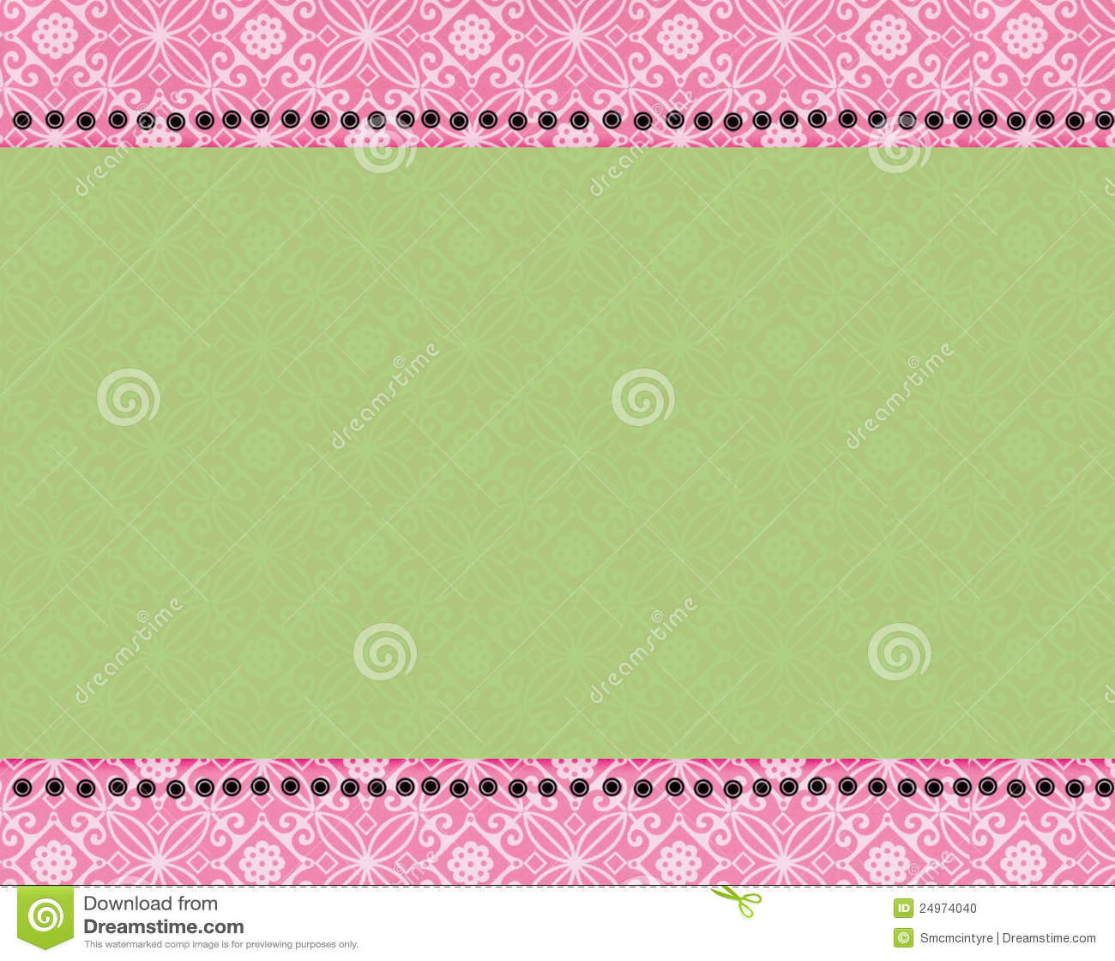 Pink And Green Paisley Print Stock Photo Image 24974040