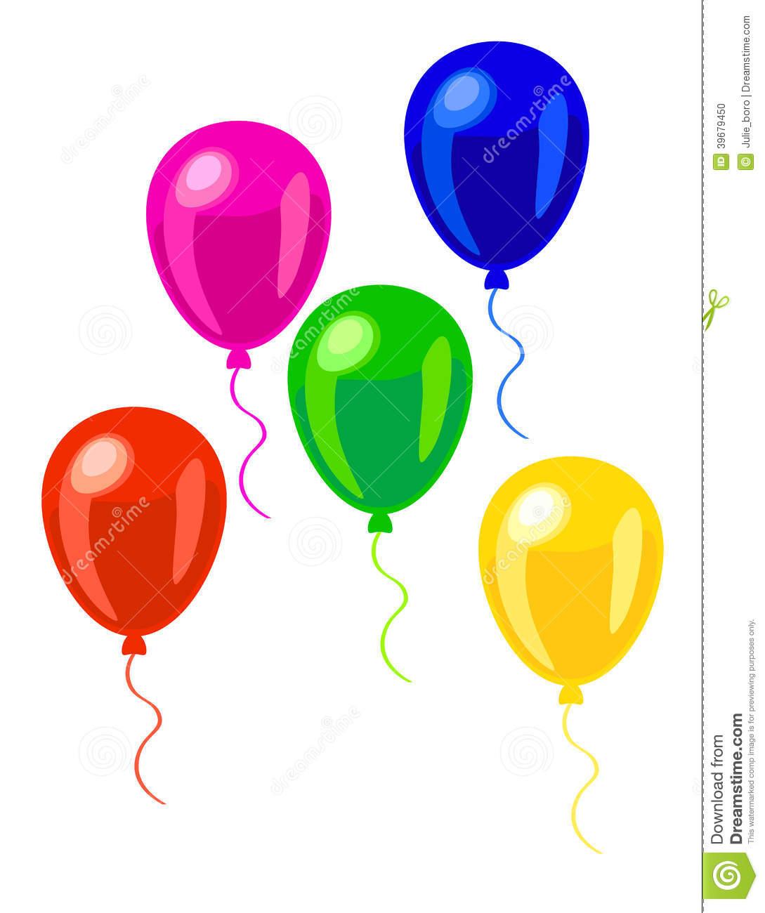 Green and blue balloons - Pink Green Red Blue And Yellow Balloons