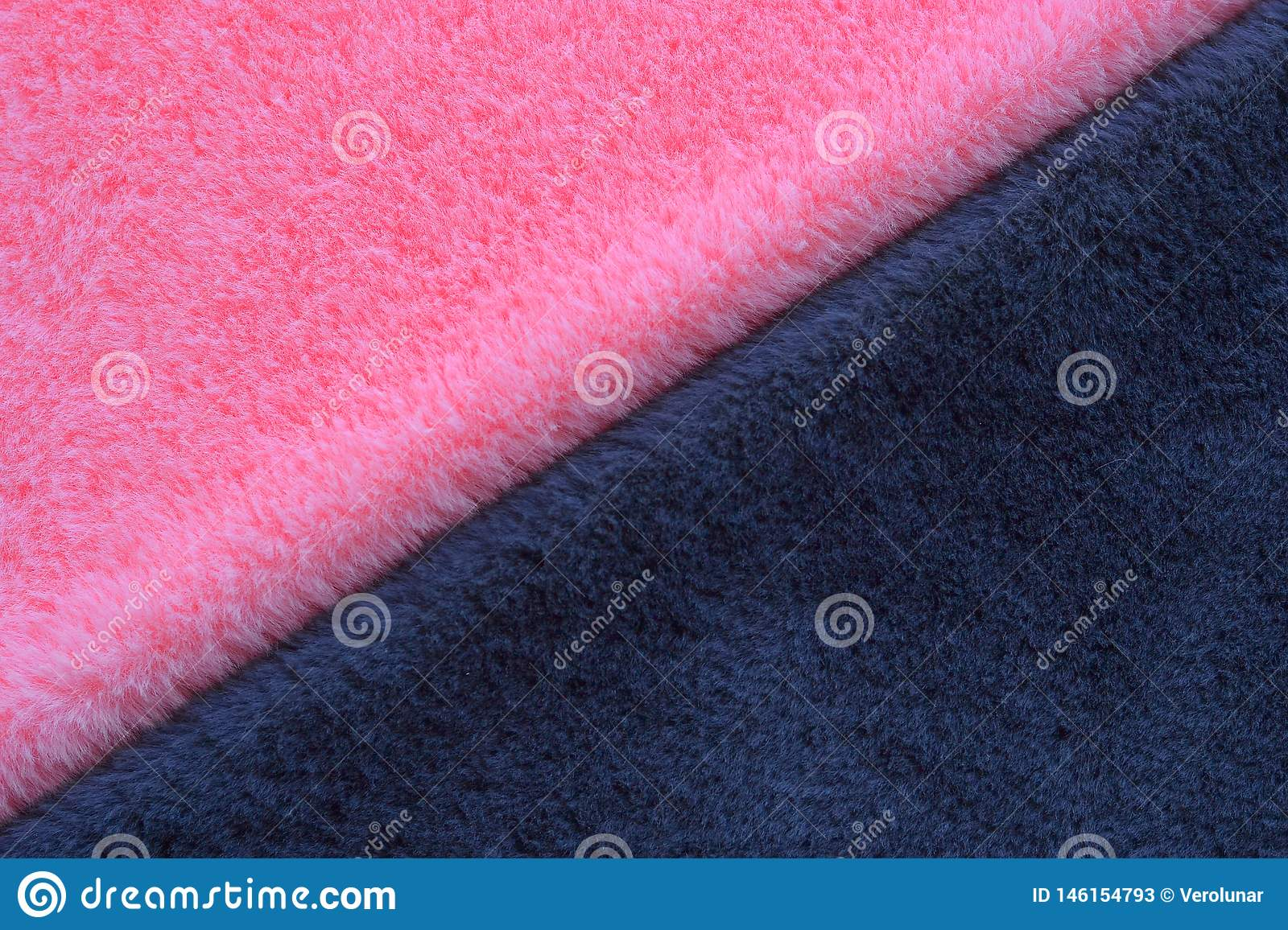 Pink and grey fur background