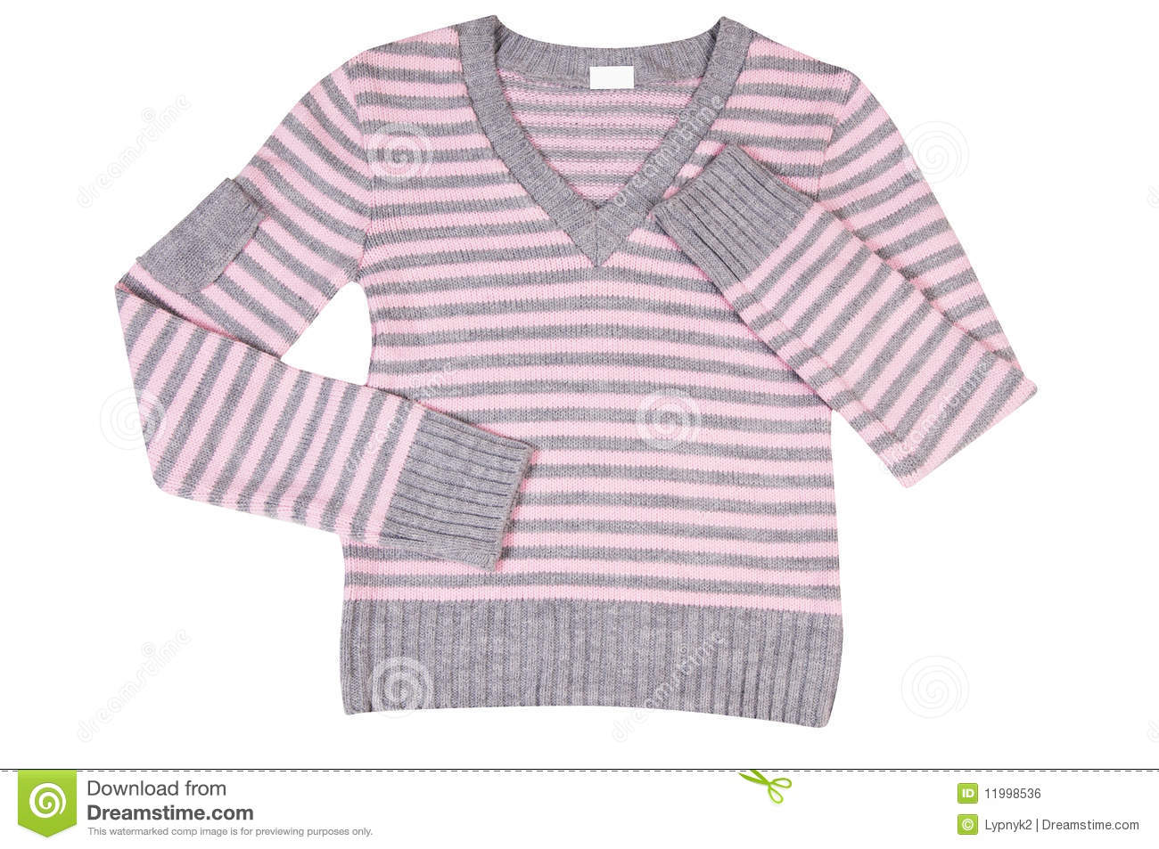 Pink-grey Sweater On A White. Stock Photo - Image: 11998536