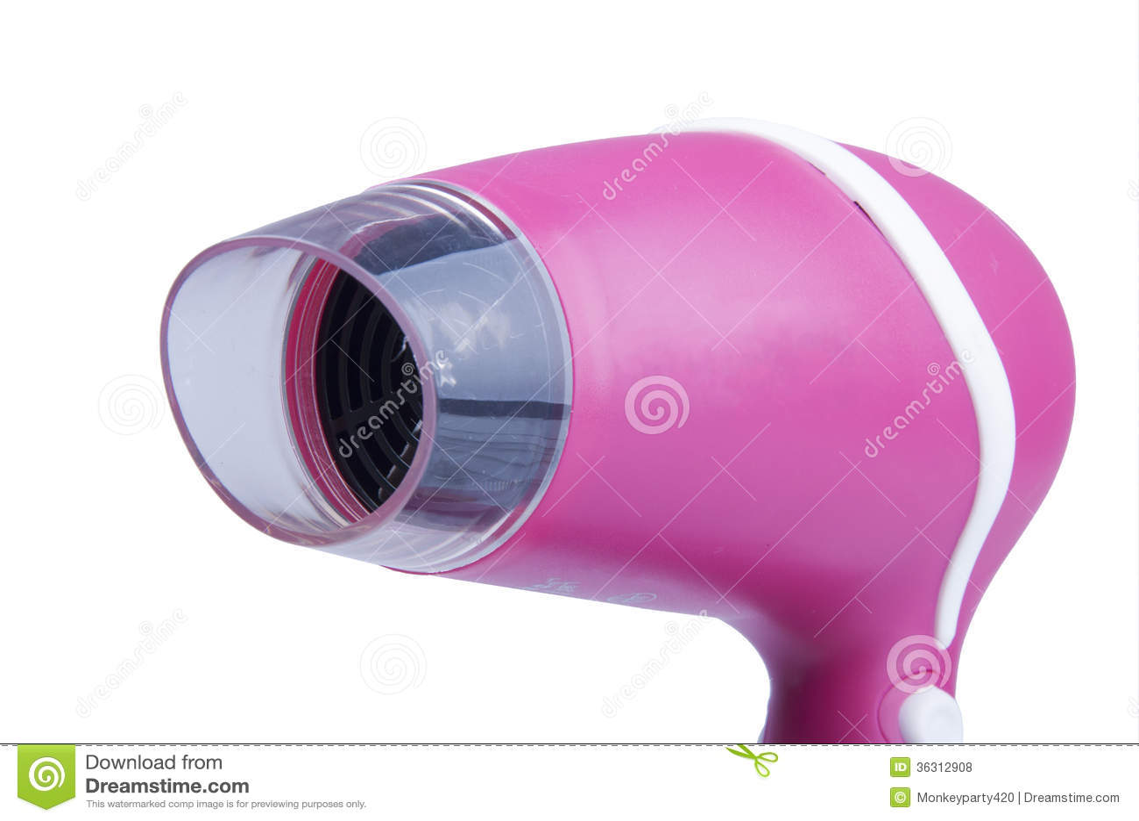 Pink Hair Dryer ~ Pink hair dryer stock photography cartoondealer