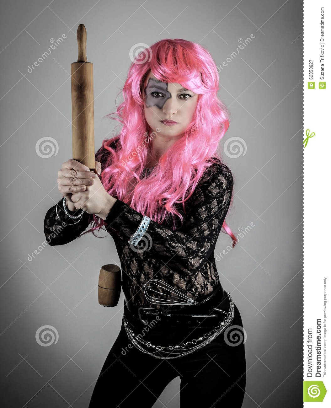 Pink Hair Superhero Stock Photo - Image: 62358827