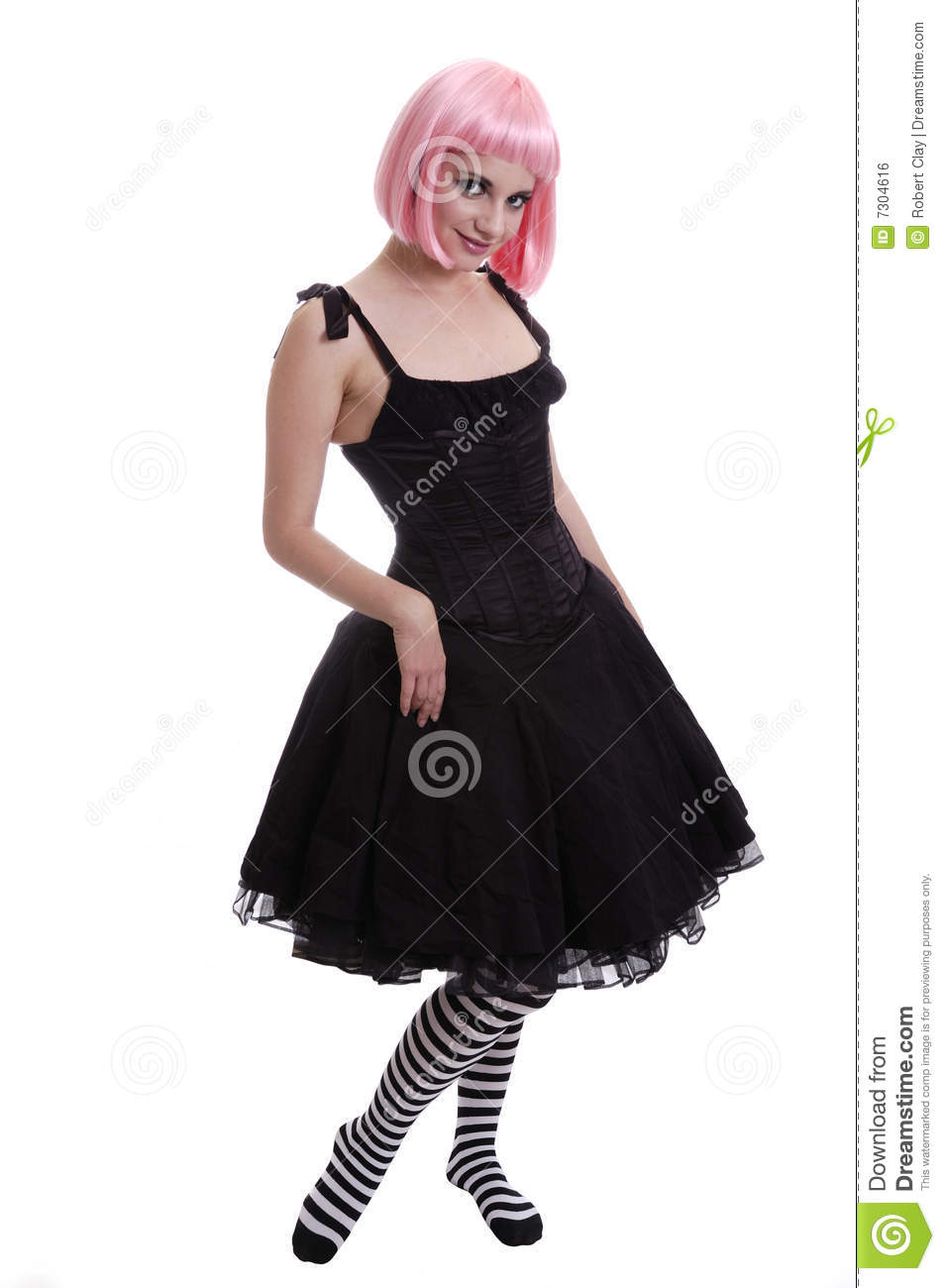 Pink Haired goth Girl