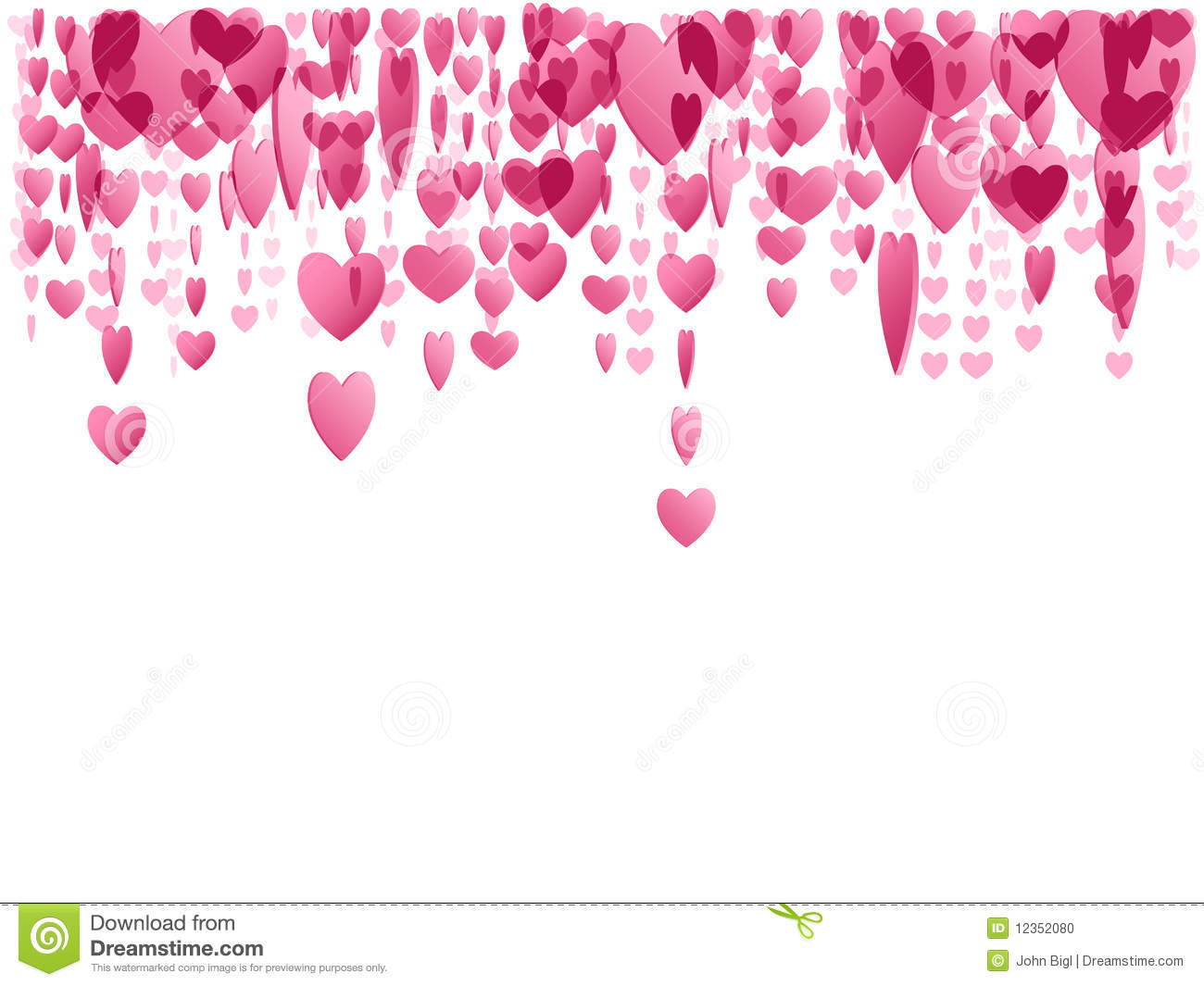 pink hanging hearts stock vector image of heart love