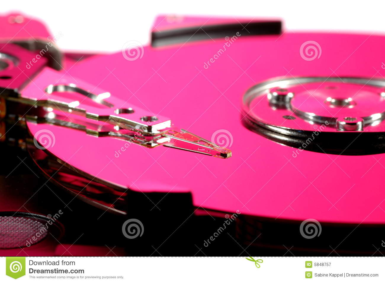 Pink Hard Drive Royalty Free Stock Photography