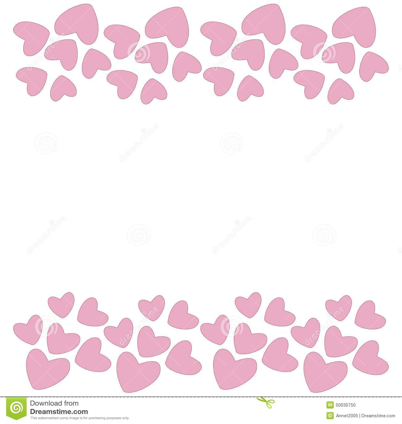 pink heart border vector stock illustration