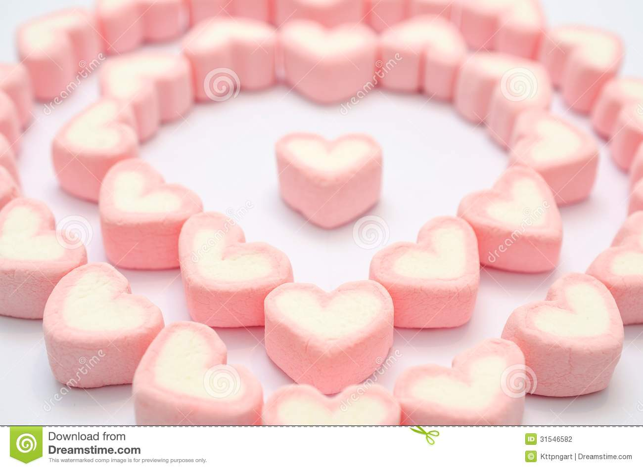 Pink Heart Marshmallow Stock Photography - Image: 31546582