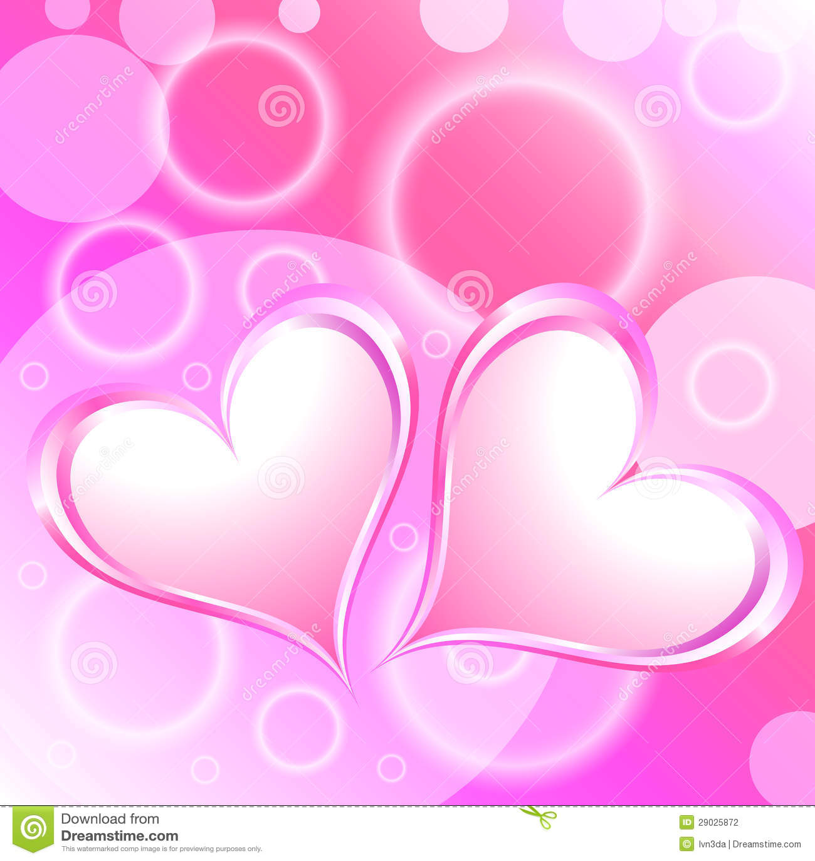 pink heart shiny holiday background stock photography