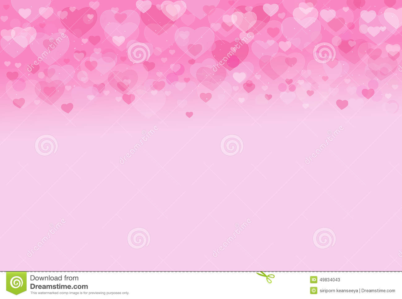 Pink Heart Valentine Sweet Background Stock Photo