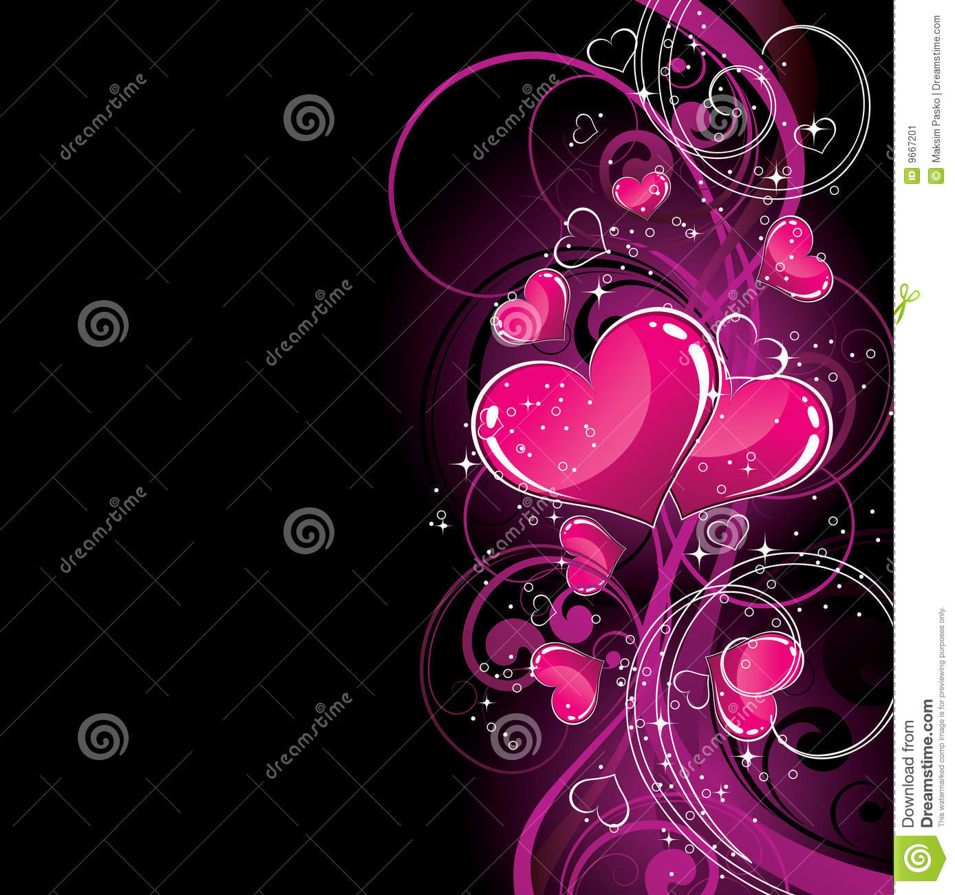 Black and pink hearts background photo exclusive photo
