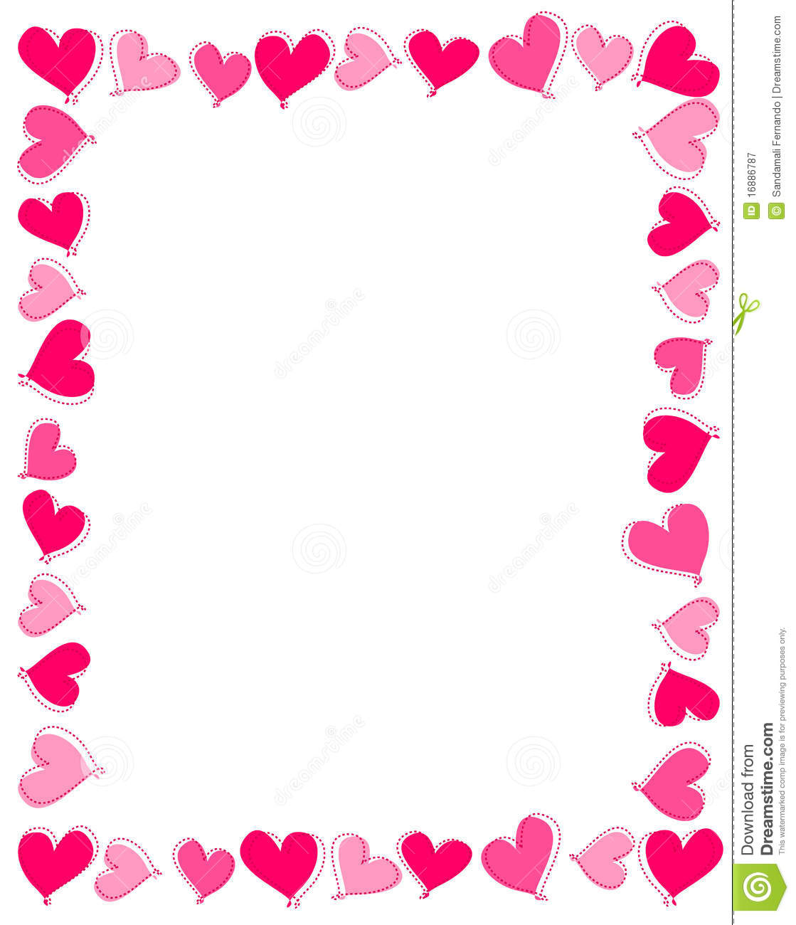 Pink Hearts Border Stock Vector Illustration Of