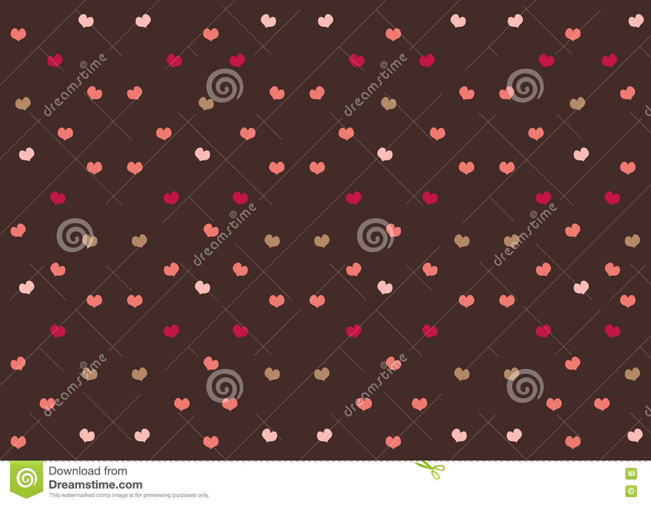 Pink hearts on chocolate brown background sweet cute pattern pink hearts on chocolate brown background sweet cute pattern wallpaper valentine day celebrate voltagebd Gallery