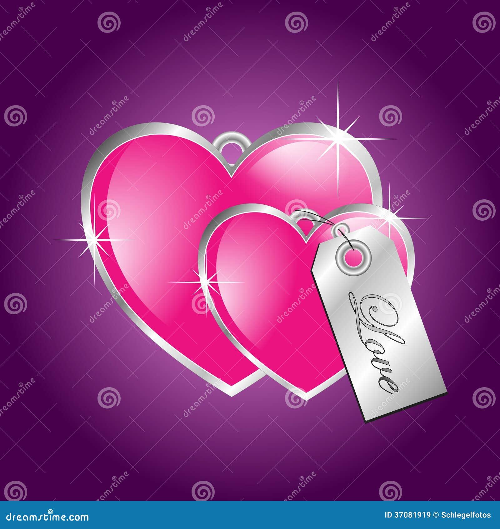Pink hearts on purple background stock illustration illustration pink hearts on purple background buycottarizona