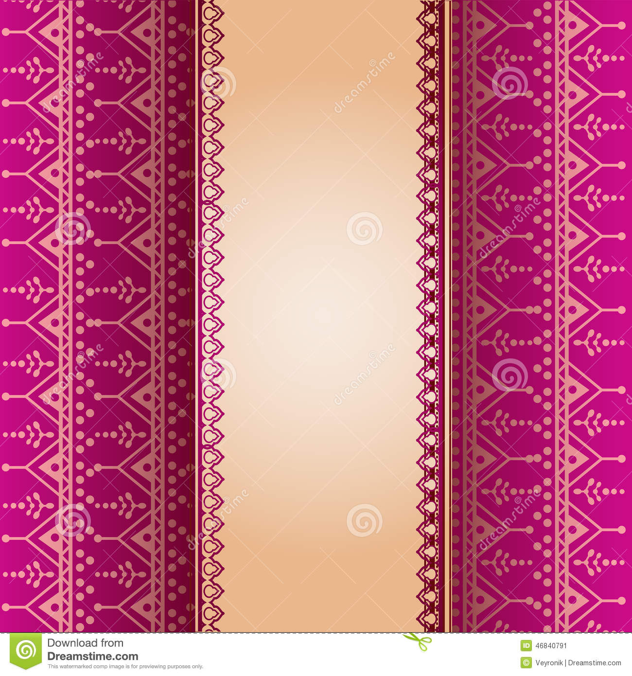pink henna pattern vertical banner illustration 46840791 - megapixl