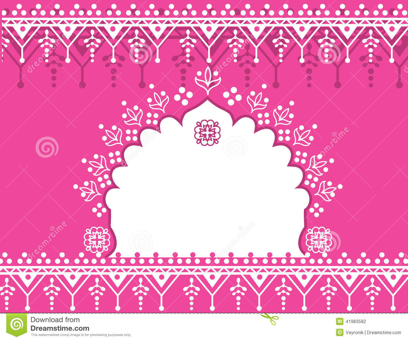 Pink Indian Background Stock Vector - Image: 41983582