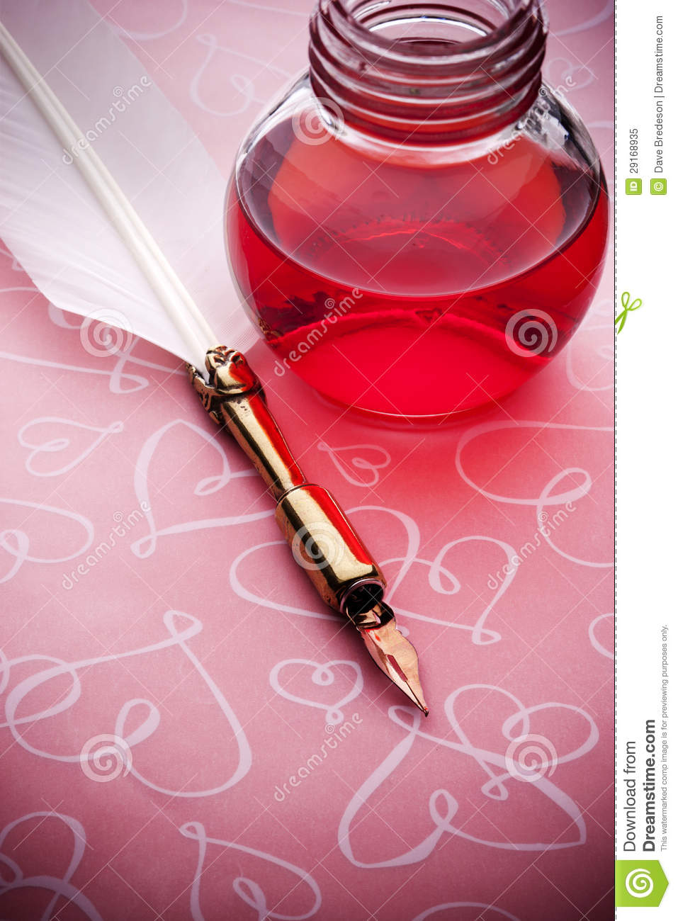Pink Ink Hey Wardrobe Capsule Over Here Check It Out: Pink Ink Pen Love Background Stock Image