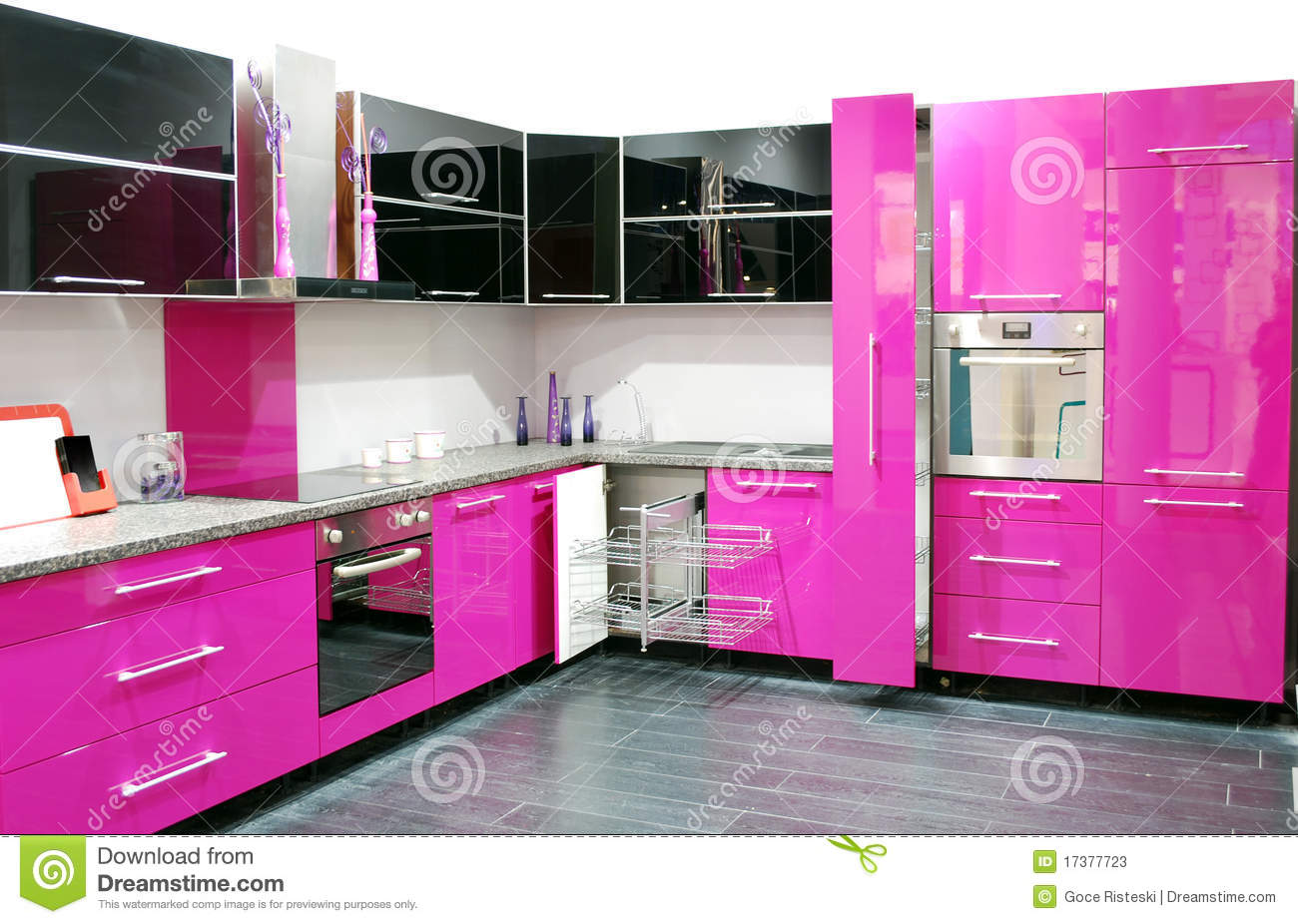 Pink Kitchen Stock Photos  Image 17377723