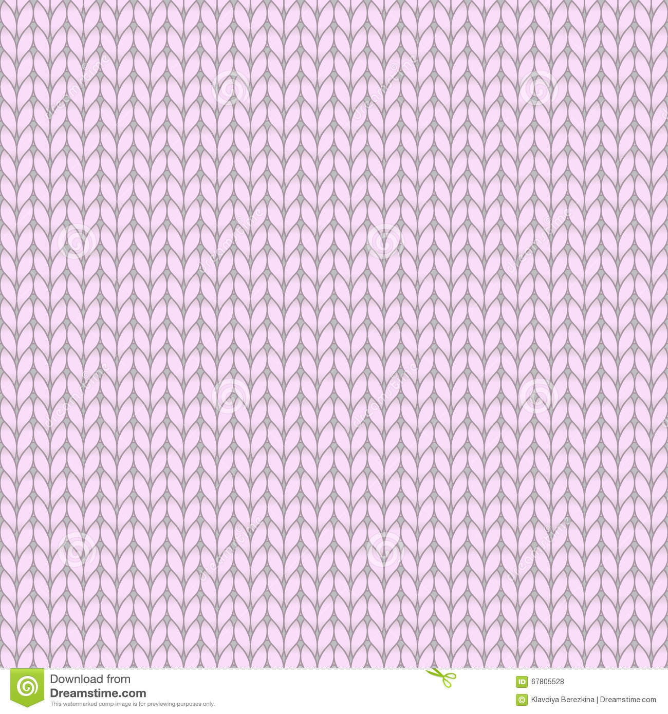 Knitting Stitch Orientation : Pink Knitted Seamless Pattern Cartoon Vector CartoonDealer.com #87792031