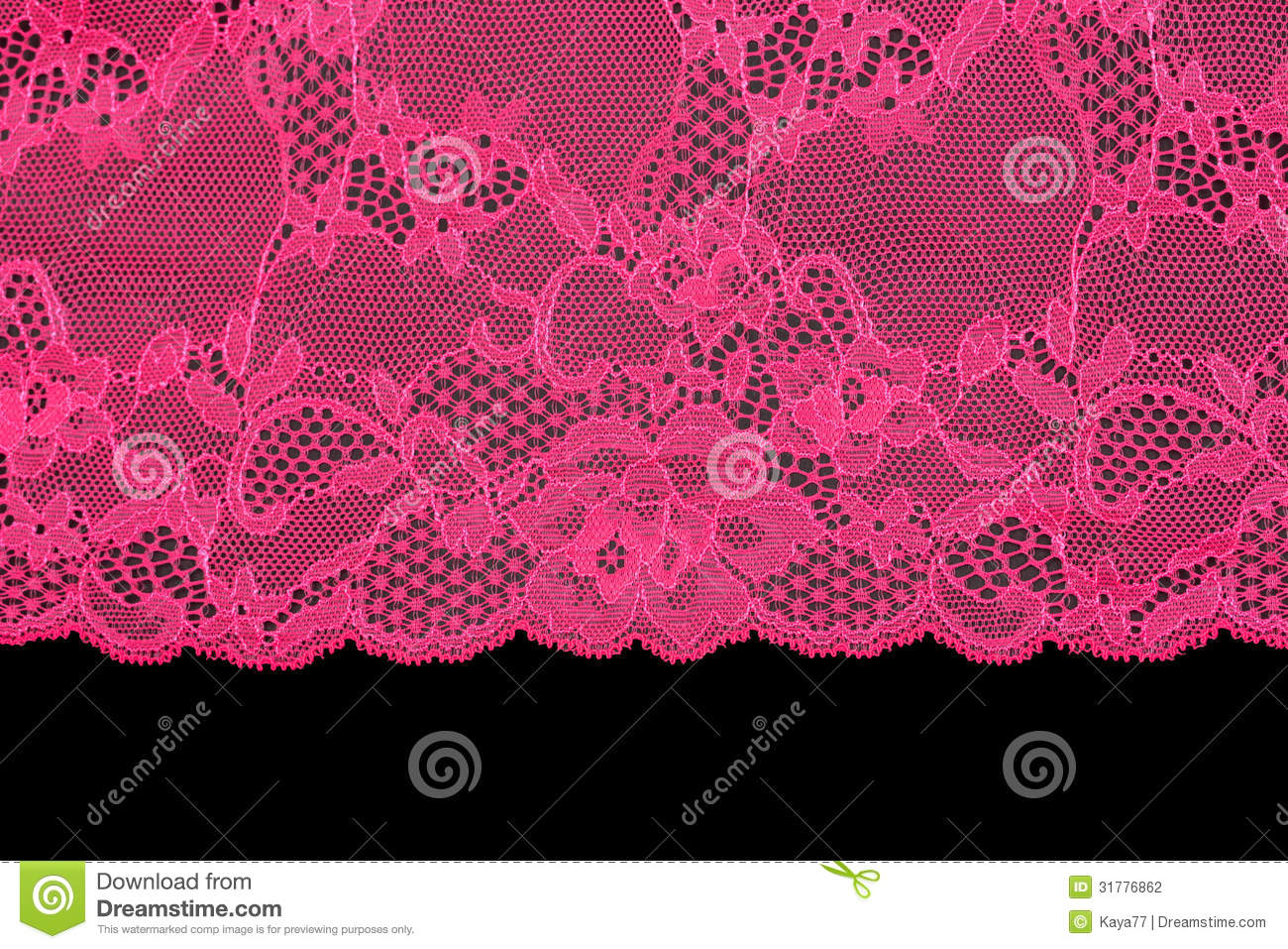 Pink Lace Over Black Background Stock Photo - Image of ...