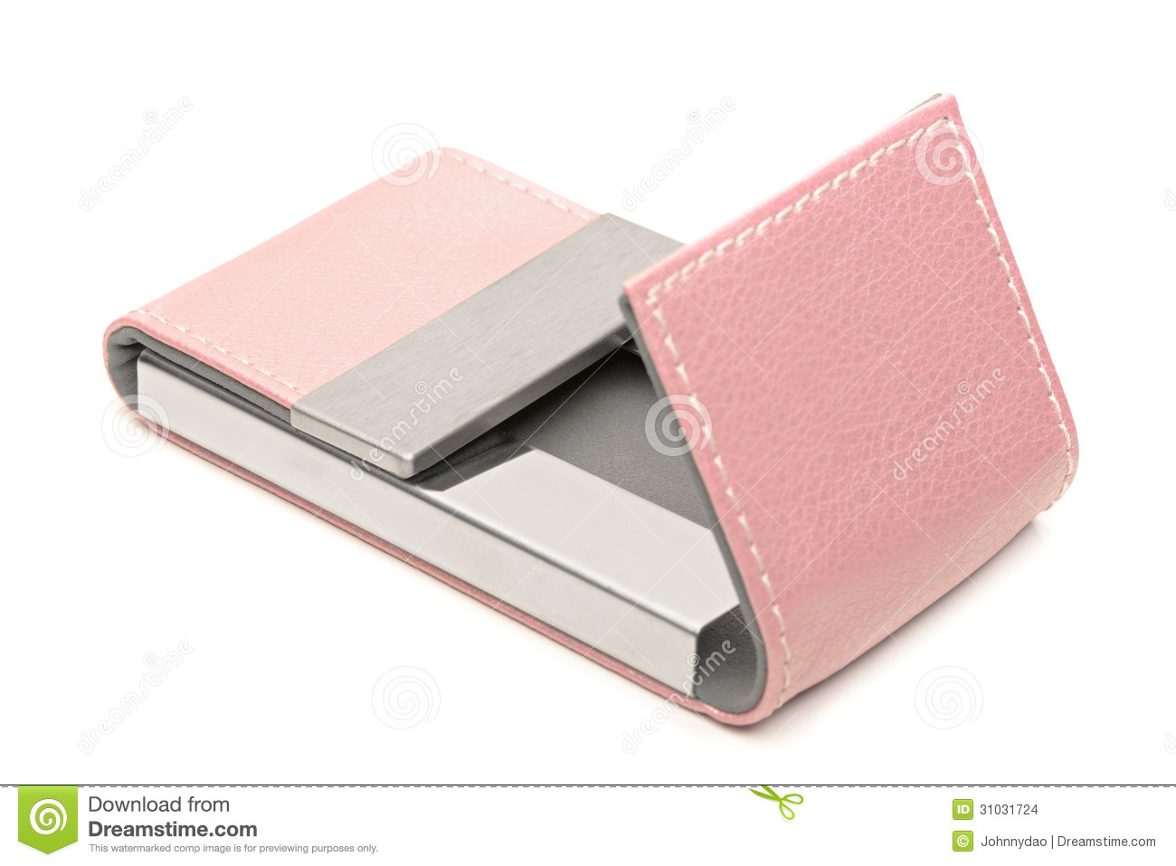 Pink leather business card holder stock photo image 31031724 pink leather business card holder magicingreecefo Image collections