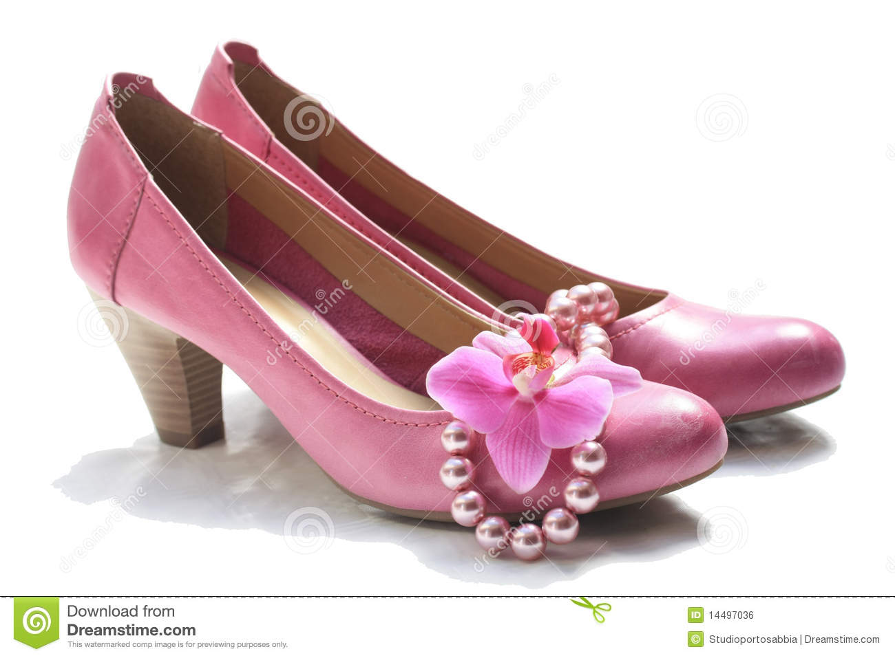 pink leather shoes royalty free stock image image 14497036