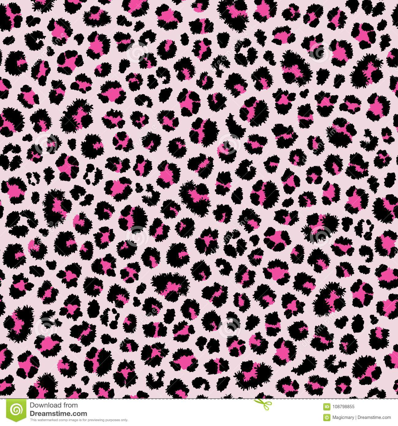 Leopard Seamless Pattern  Animal Print  Vector Background Stock