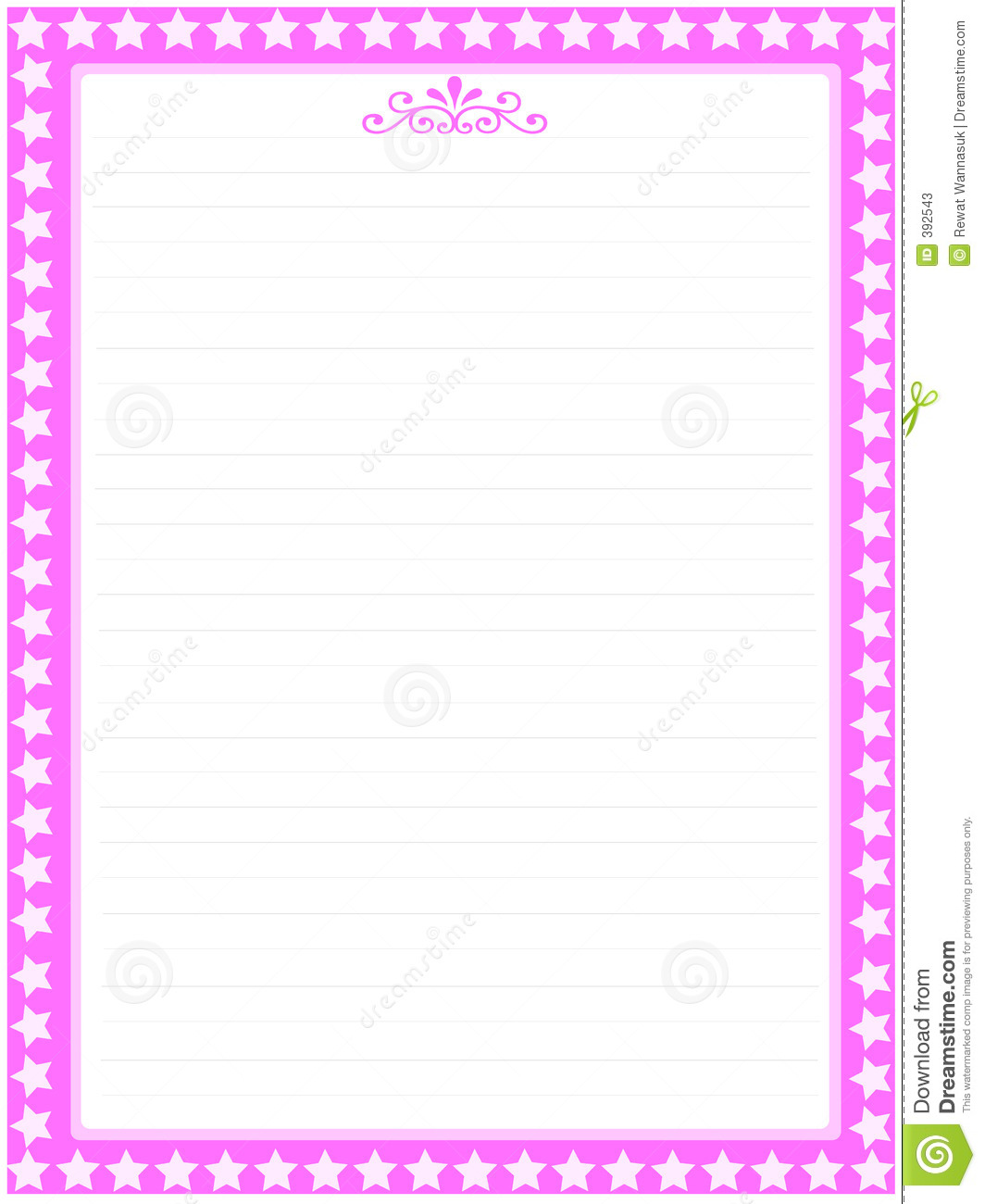 Pink Letter Paper Bank 03 Stock s Image