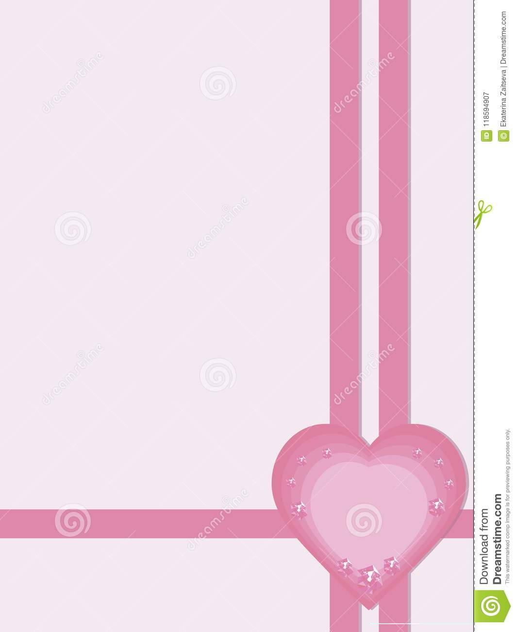pink light greeting card gift invitation page congratulation
