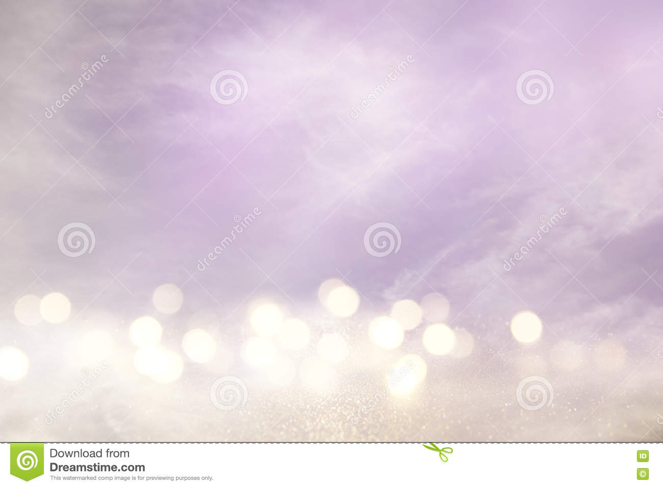 pink, light purple and silver abstract bokeh lights
