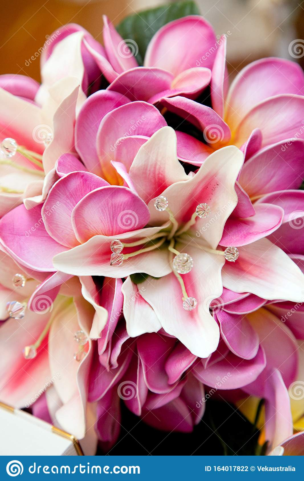 Pink Lily Flower Wedding Bouquet Stock Photo Image Of Lily Wedding 164017822