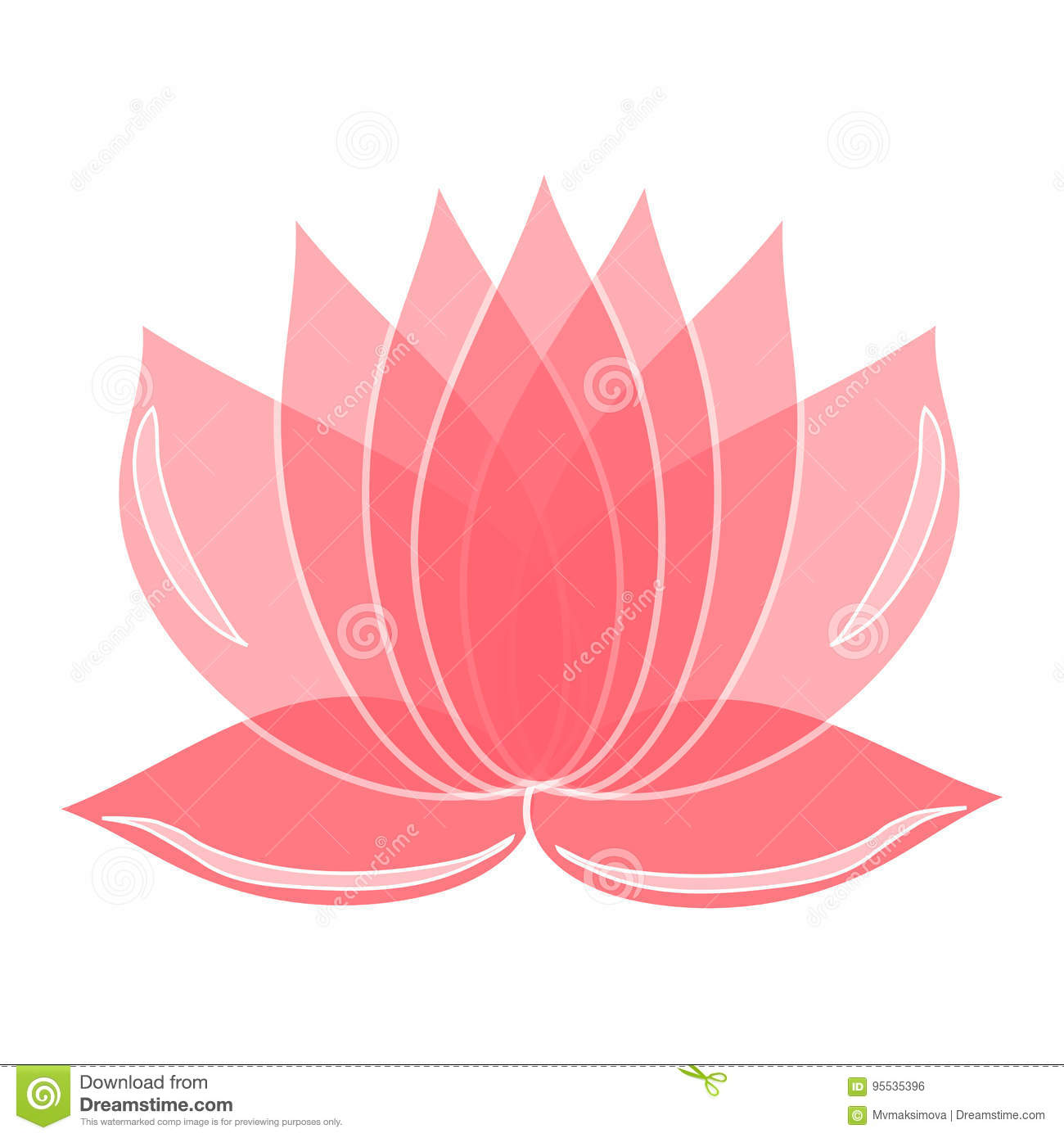 Pink Lotus Flower Element Of Design You Can Use As A Logo Stock