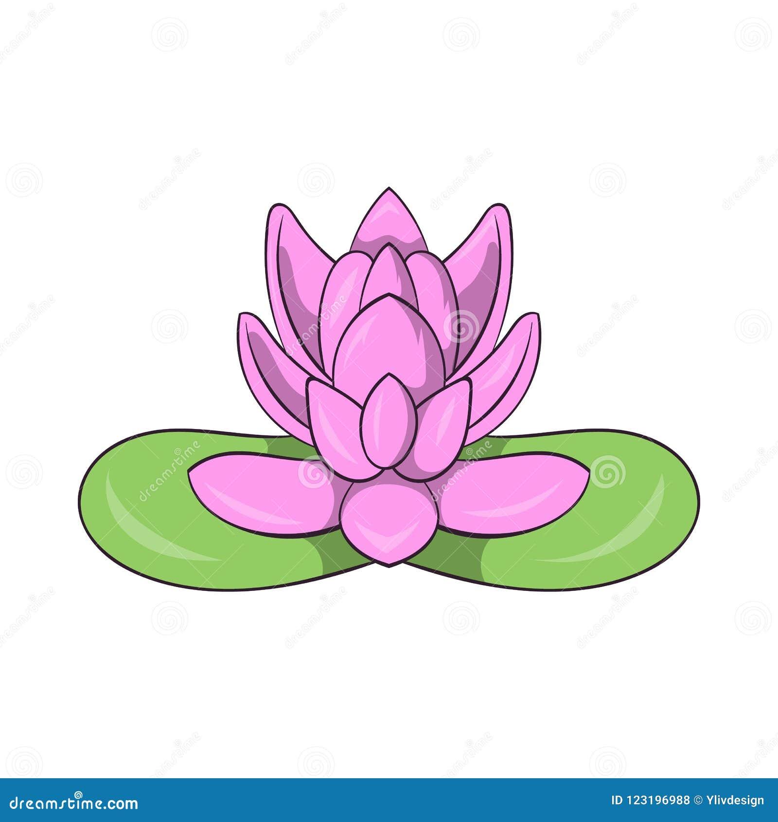 Pink lotus flower icon cartoon style stock illustration download pink lotus flower icon cartoon style stock illustration illustration of leaf icon mightylinksfo