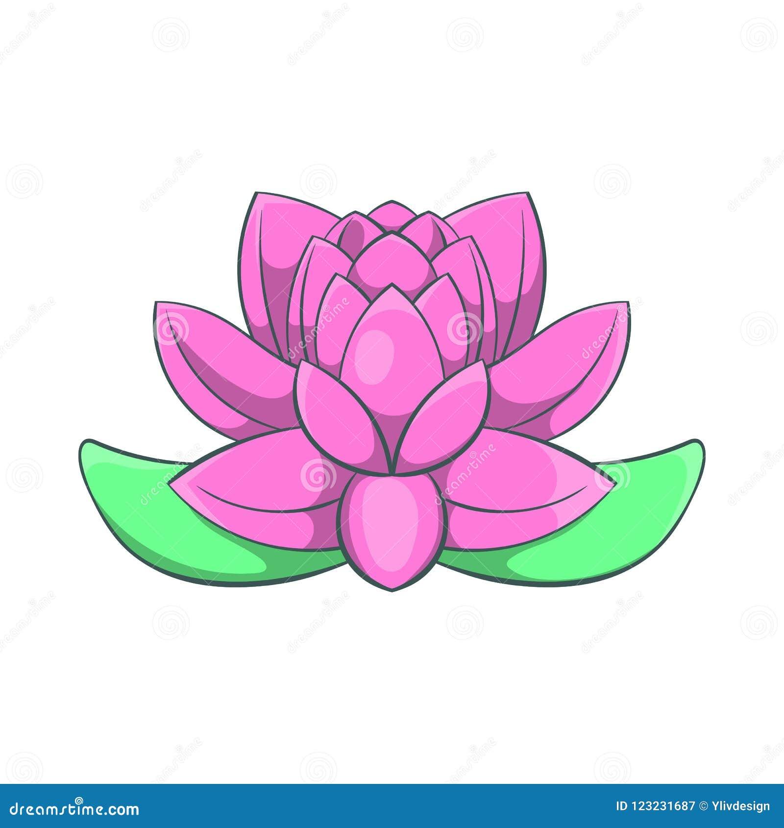Pink lotus flower icon cartoon style stock illustration download pink lotus flower icon cartoon style stock illustration illustration of natural floral mightylinksfo