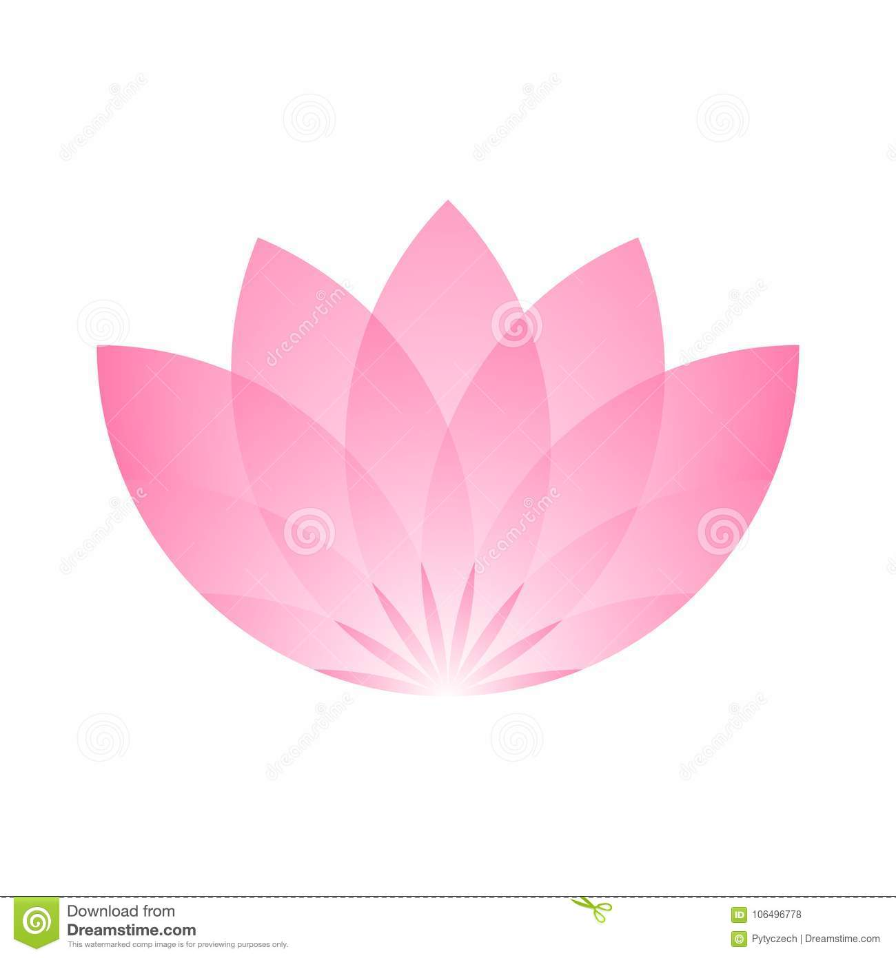 Pink lotus flower icon symbol of yoga and beauty vector download comp izmirmasajfo