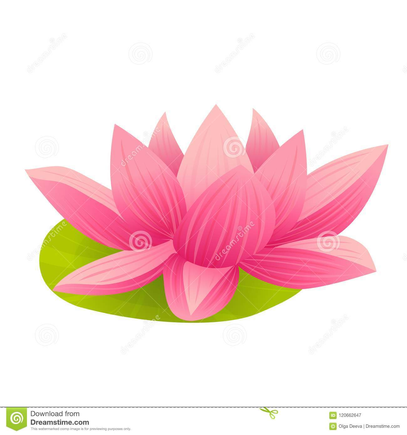 Pink lotus icon in cartoon style stock vector illustration of pink lotus icon in cartoon style mightylinksfo