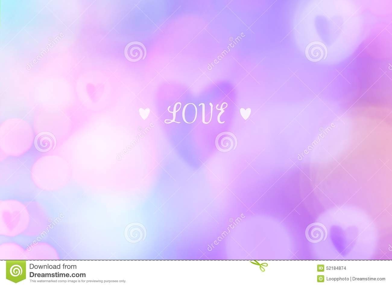 pink love bokeh wallpaper stock photo image 52184874