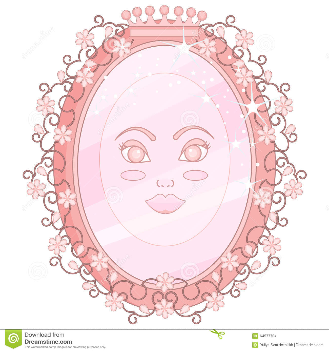Pink Magic Mirror Stock Vector - Image: 64577704