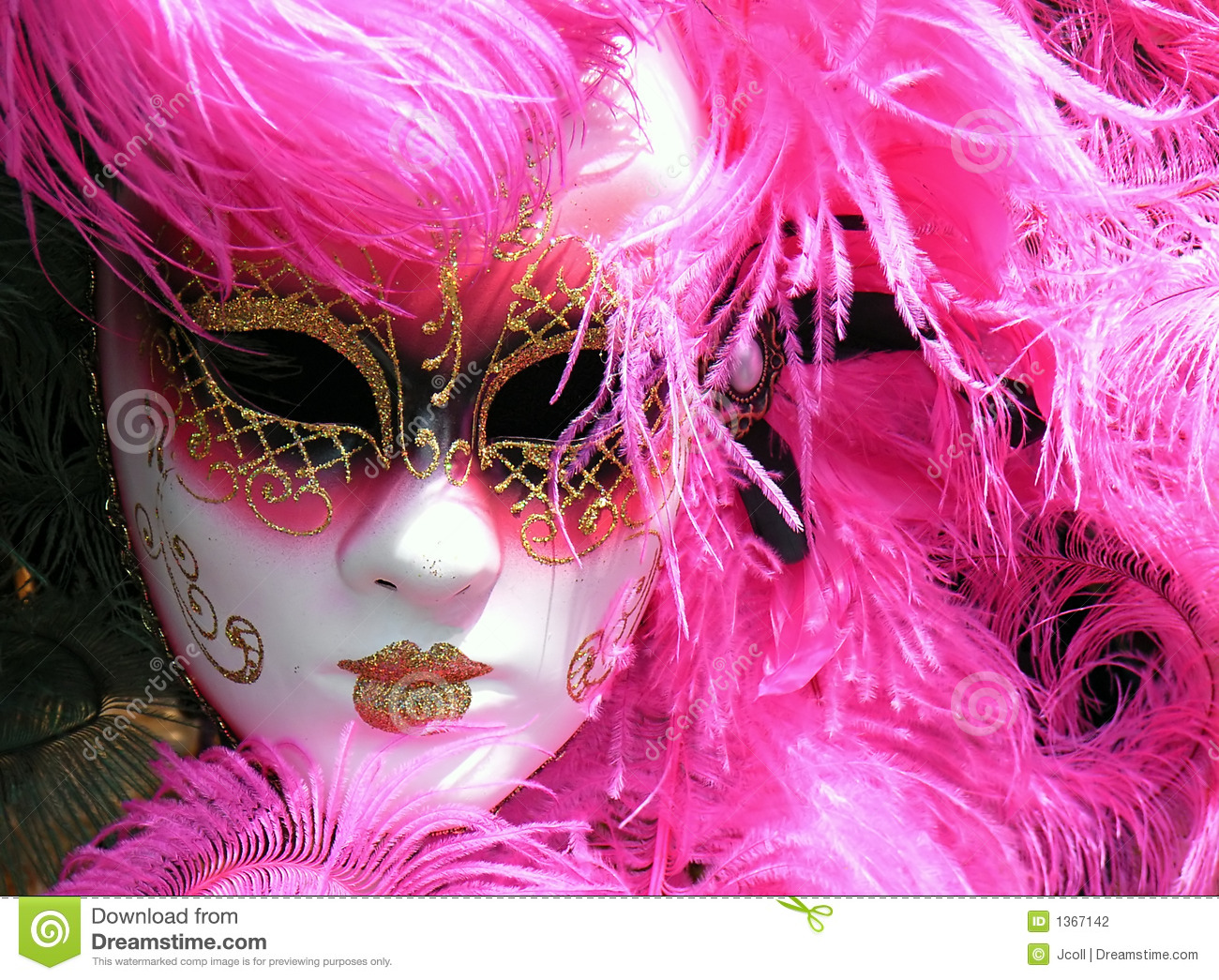 Pink Mask Stock Photo Image Of Colorful, Comedia, Gras - 1367142-9048