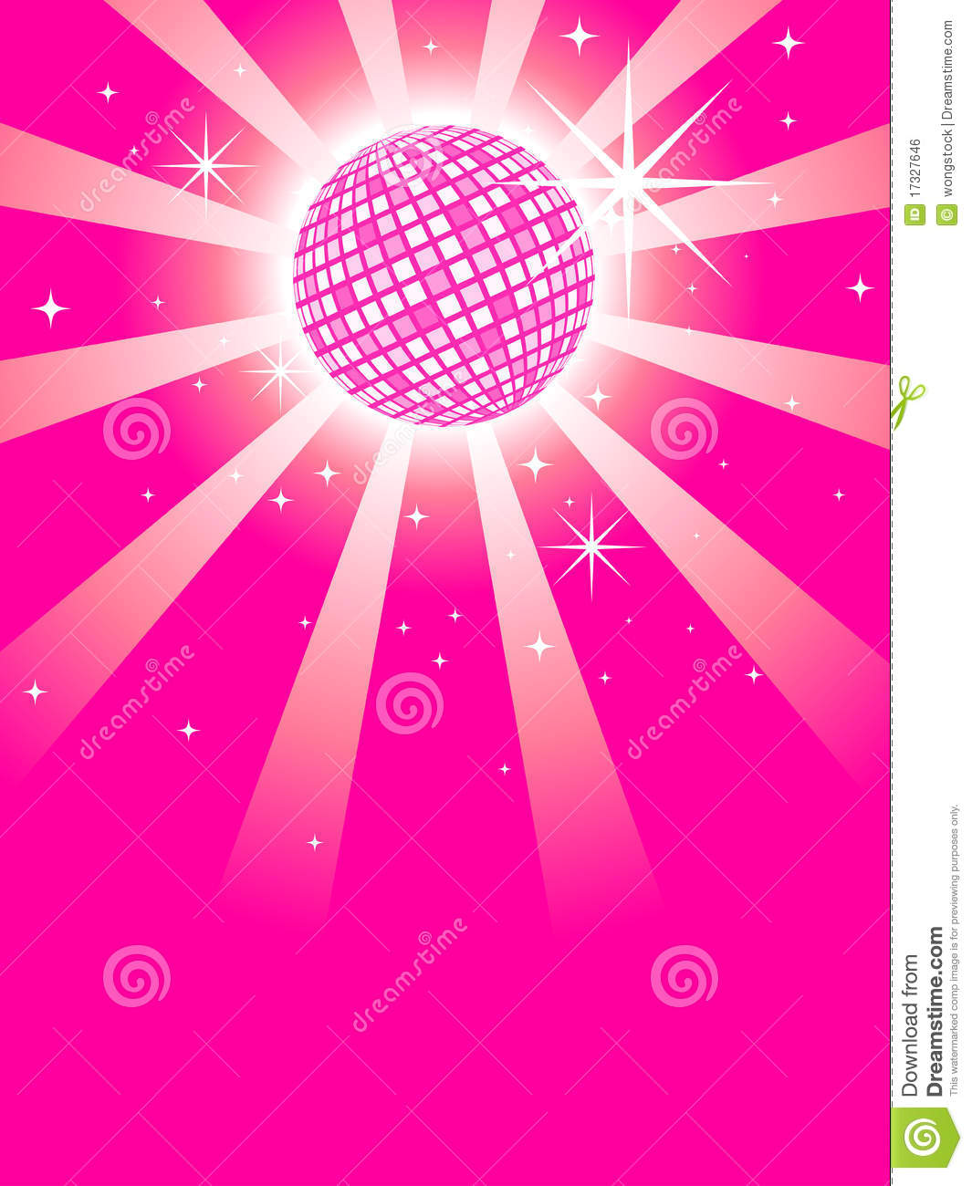 Pink Mirror Discoball Stock Vector Illustration Of Round