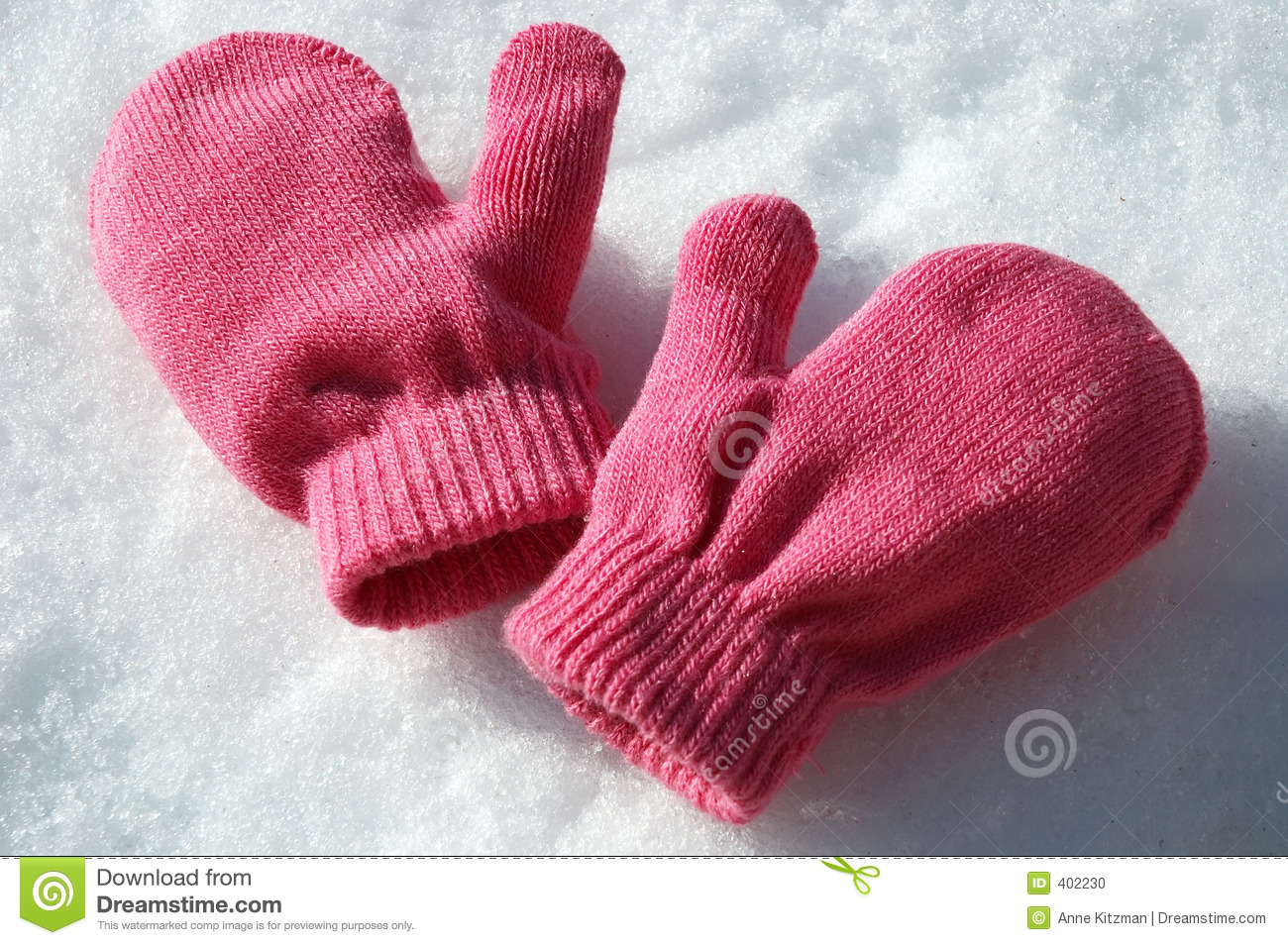 Pink Mittens Stock Photo - Image: 402230