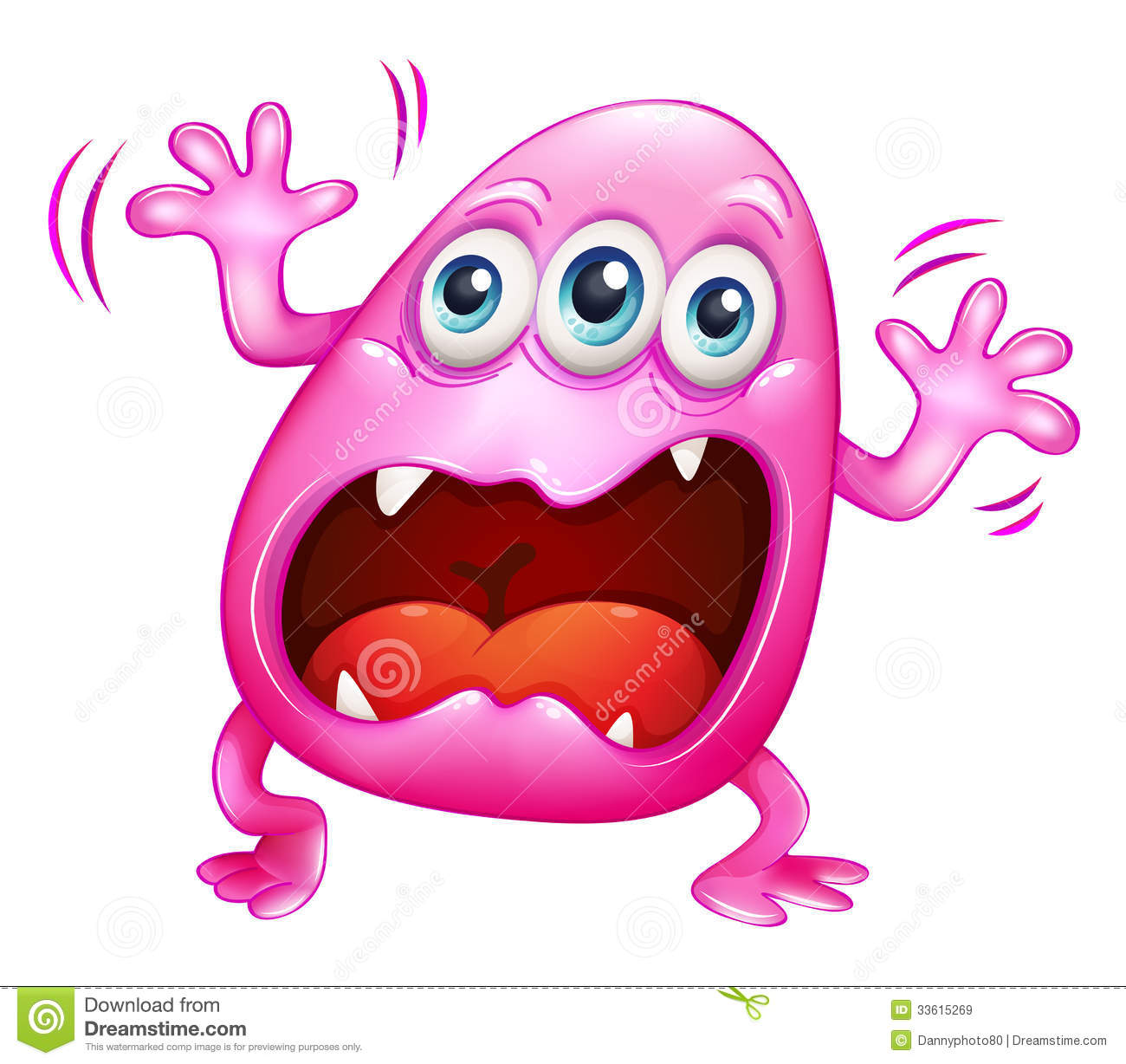 Pink Monster Shouting Because Of Frustration Royalty Free Stock ...